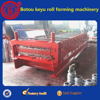 Two layers roll forming machine can press wall and roof tile