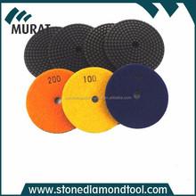 Black color Resin-Cooper Bond Diamond Polishing Pads With Velcro Back 4 Inch
