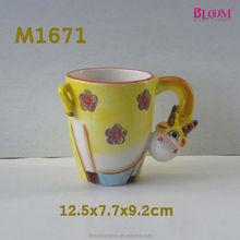 high quality ceramic giraffe shape mug