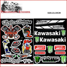 motorcycle sticker design/motorcycle decorative stickers/decal For Kawasaki KX250F