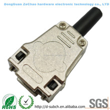VGA 9 POS CONNECTOR BACKSHELLS,db9 female socket