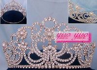 fashion rhinestone flower tiara headband