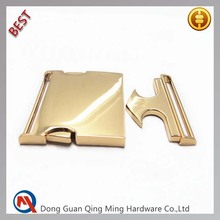Gold Metal Adjustable Side Release Buckle For Coat