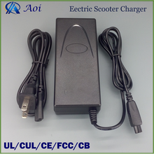 High quality 42v 2a 2 wheel electric scooter charger with UL,CE,CB,FCC,CUL approved