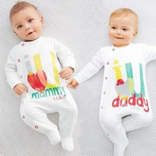 R&H character printed snaps organic cotton round neck baby clothing, baby playsuit, baby toddler jumpsuit clothing