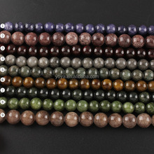 YJ1120 Fashion colorful dyed jade stone beads,semi precious stone beads string