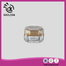 China Manufacturer golden cap special shape 15ml cosmetic creams packaging