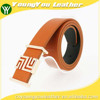 2015 NEW casual belt for man with orange microfiber fiber leather in yiwu