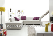 2013 Trendy Classic White Leather Sofa Set
