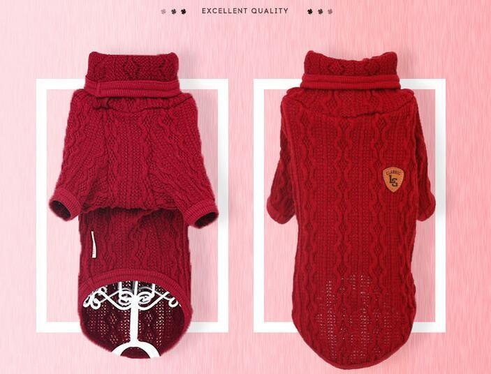 Venta caliente perro suéter patrón que hace punto libre-Vestuario y ...