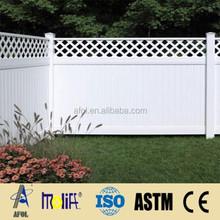 AFOL China Manufacturer modern house design pvc pickets fence