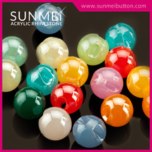 High Quality Fashion Colored Acrylic Round Plastic Beads