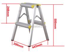 doppio lato pieghevole in alluminio tramite scaletta pieghevole sedia scala