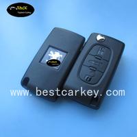 TOPBEST 207 307 407 107 307 SW 308 remote key peugeot 307 transponder key id46 chip
