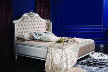 Yj-a2001 antique rococo bed jordans furniture bedroom sets fabric bedroom set