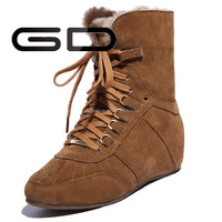 Cheap winter snow boot women ankle boot keep warm