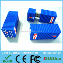 Personal Promotion gift,Gift Promo Container Cargo PVC Custom 2g usb flash drive