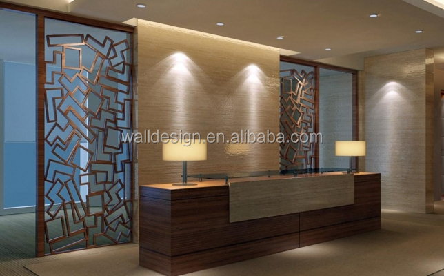 Laser Cut MDF Decorative Screens For Hotelsdecoration