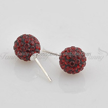 BB018 New Style Shamballa Earring Balls With Crystal Earrings Stud