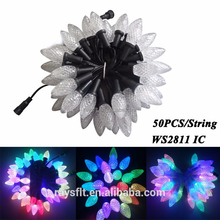 Outdoor LED Lighting Decoration christmas ball light DC5V programable ws2811