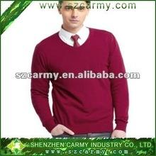 100%Cotton V-neck new design sweater /Cardigan for men low V collar 2012 new design