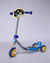2015 New Arrival 3+ Tri Kids moped scooter (EN71 Approved) plastic material three wheels