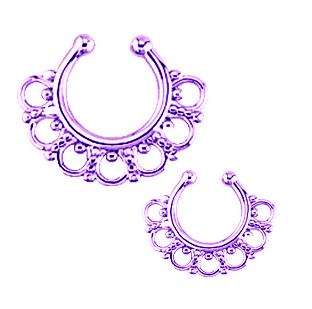 Original de bronze septo para não furar nariz anel jóiacorporal não- piercing da jóia do corpo