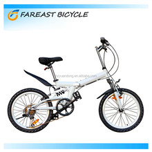 20-inch high-carbon steel white mountain bicycle folding bike 6 speed made in china factory