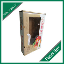 WHOLESALE ECO-FRIENDLY CUSTOMIZED CORRUGATED APPLE FRUIT PACKING BOXES WITH WINDOW MANUFACTURE IN CHINA
