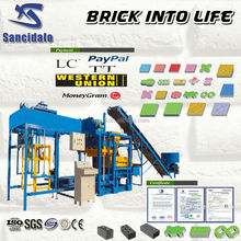 QT4-25 Concrete construction brick making equipment / Factory directly sell automatic block making machine price with Siemens mo