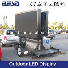 P10 double side advertising electronic mobile truck led display, truck mounted led billboard