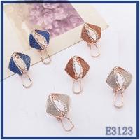 Hot sale party wear woman jewellery luxury crystal gold plated fashion stud earrings