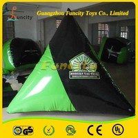 Popular body inflatable paintball game, durable used air bunker, inflatable paintball bunker for adults