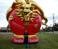 outdoor events chinese dragon inflatable mascot