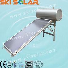 China manufacturer porcelain enamel tank solar water heater flat plate collector (SKI-PEF)