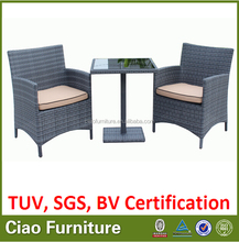rattan coffee shop table and chair/small table with chair