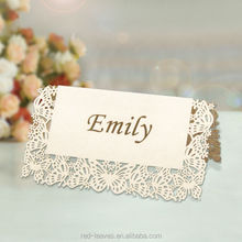 Most popular new coming butterfly laser cut place card holder for christmas PC1301-05-1