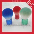 De gama alta de colorido brocha kabuki, maquillaje kabuki/cepillo cosmético, fábrica directamente la oferta