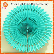 Wholesale Round Tissue Paper Fan, Wall Hanging Fan For Wedding Decoration