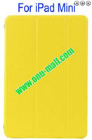 Refreshing Style Front Leather Cover hard back case for ipad mini