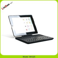 Hot 3 in 1 best rotate separable wireless bluetooth keyboard case for ipad 2 3 4