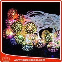 LED mercury glass christmas ornaments