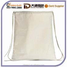 Simple canvas drawstring shopping bag shoulder bag