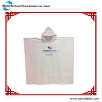 Printed Disposable rain poncho for adult(883A)