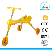 NO.1 QUALITY YELLOW T-BAR SCOOTER TRICYCLE