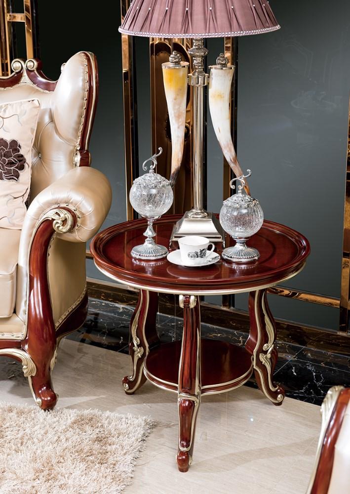 Bisini antique living room solid wood round side table Antique side tables for living room