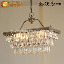 Illuminazione vintage, moderna lampada a sospensione, marca famosa lampada lampadario di cristallo