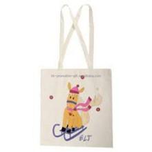 High Quality Cotton Handbag /natural color cotton Shopping Bag/ cotton canvas shopping tote bag with long handles