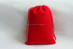 Fast delivery microfiber pouch red color velvet drawstring