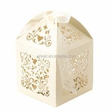 Ivory Laser Cut Filigree Wedding Bomboniere Boxes | Favour Boxes